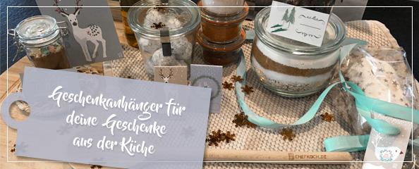 Zu den Weihnachtsetiketten von Chefkoch.de