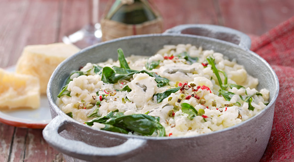 Spinat Risotto