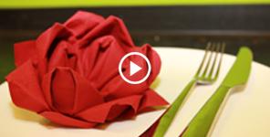 Rose, Fächer und mehr: Servietten falten