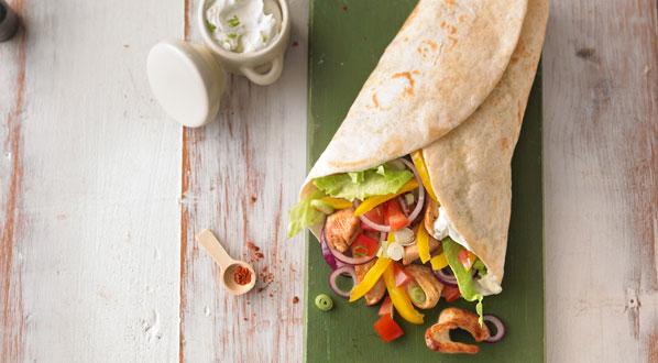 Gesunde Ernährung für Schulkinder geht auch mit einem Wrap
