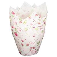 Papiermanschetten mit Blumenmotiv