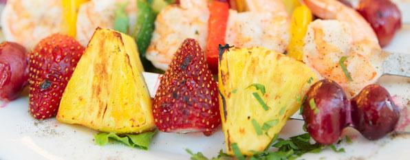 Vegetarisch grillen: Obst