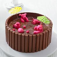 Schweinchen-Torte