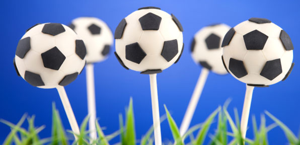 Fu�ball Cake Pops