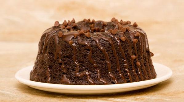 Schokoladenkuchen als Gugelhupf