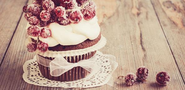Weihnachtlicher Schokoladen Cupcake