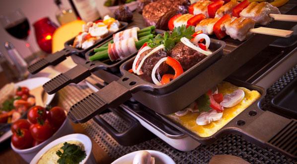 raclette ger te im vergleich und tolle rezepte. Black Bedroom Furniture Sets. Home Design Ideas
