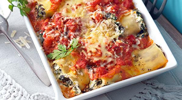 Cannelloni aus dem Ofen