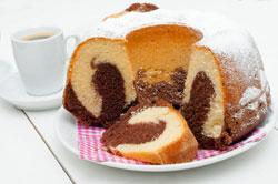 Marmorkuchen als Gugelhupf gebacken