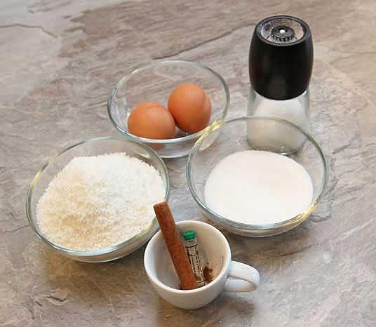 Zutaten für Kokosmakronen