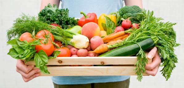 gesunde Ernährung mit viel Obst und Gemüse