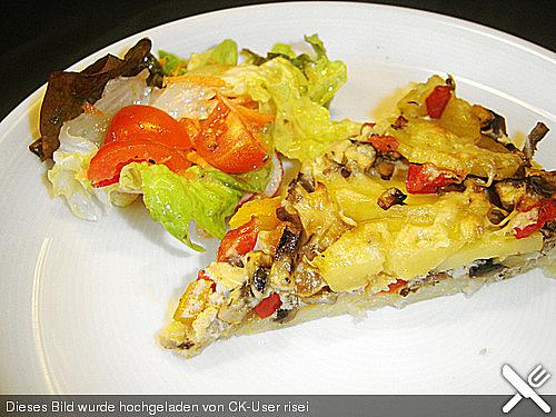 Paprika-Champignon-Quiche