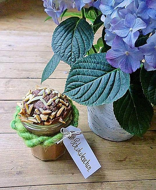 Schoko-Mandel-Kuchen im Glas