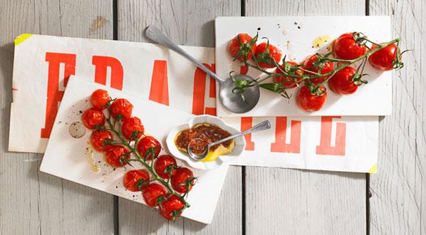 Tomaten als Bruschetta