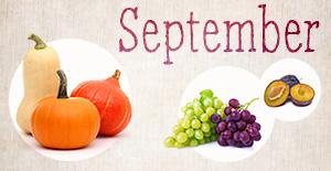 Saisonkalender September