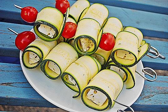 Zucchini - Käse - Spieße
