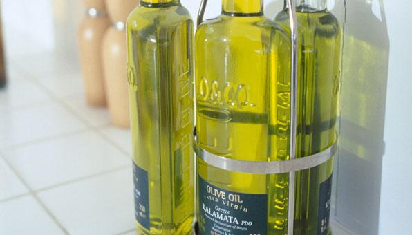 Olivenöl in Flaschen