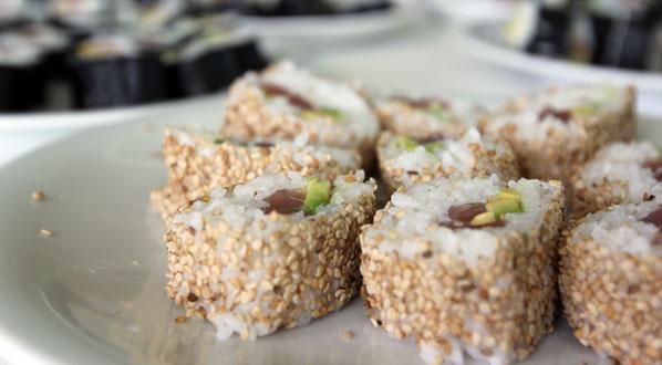 Sushi selber machen: Reis-Häppchen