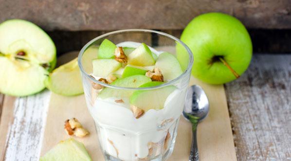 Apfel mit Joghurt