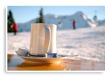 Kaffe beim Skifahren