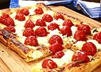Blätterteigpizza mit Ziegenkäse