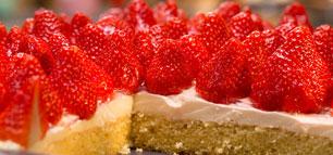 Erdbeerkuchen mit Puddingcreme
