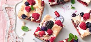 Obstkuchen mit frischen Früchten