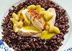 Bananen-Curry mit Hähnchenbrust