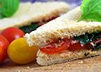 Rucola-Parmaschinken-Sandwich