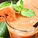 Smoothie/Slushy mit Wassermelone, Minze und Limette