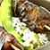 Hähnchen Saté auf Zuckerschotenreis
