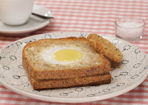 Eier im Toast