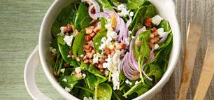 Spinatsalat - kräftig, bissfest und lecker