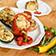 Gefüllte Paprika, Aubergine und Champignons