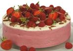 Himbeer-Erdbeer-Torte
