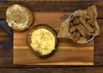 Camembert im Brotlaib