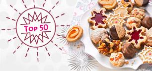 Top 50 – die beliebtesten Weihnachtsplätzchen