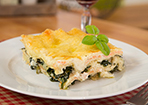 Lasagne mit Lachs und Spinat