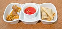 Köstliche asiatische Teigtaschen