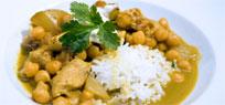 Hühnchen Curry mit Kichererbsen