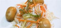 Heilbutt im Gemüsebett mit Senfsauce