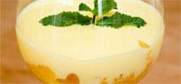 Prosecco Zabaione auf Orangenfilets