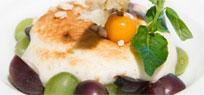 Quarkgratin mit Weintrauben