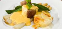 Spargel mit Sauce Hollandaise, Schweinefilet
