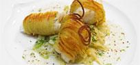 Zander im Kartoffelmantel auf Fenchelgemüse