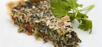 Quiche mit Spinat und Ziegenfrischkäse