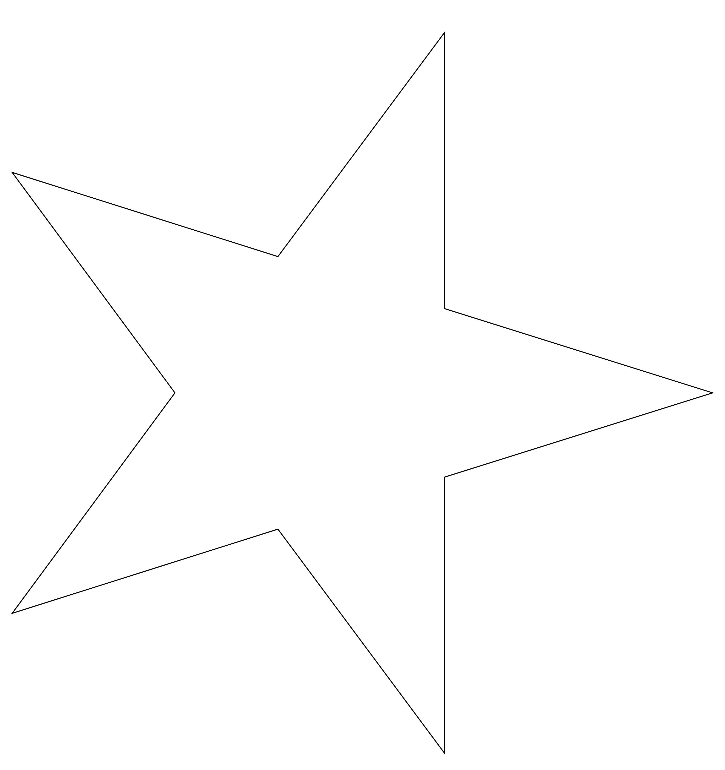Großzügig Stern Schablone Galerie - Bilder für das Lebenslauf ...