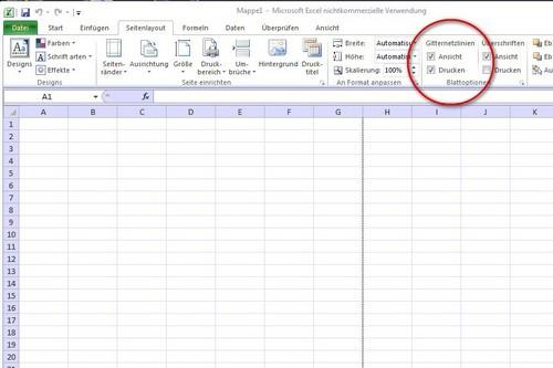 Excel Linien Zeichnen