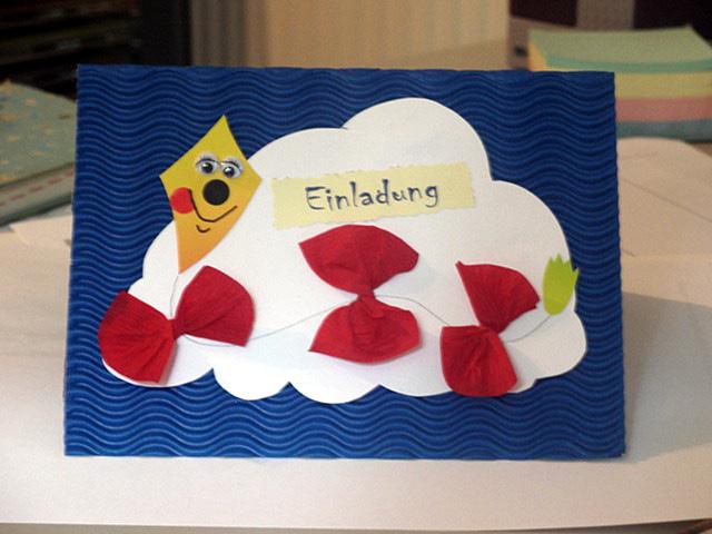 Hat jemand eine idee einladungskarten basteln f r kinder - Geburtstagskarte basteln kinder ...