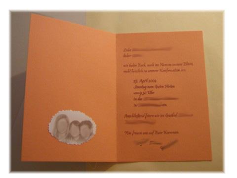 konfirmations- einladungskarten basteln!!! | familie und kinder, Einladung